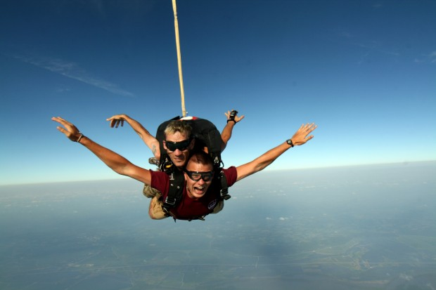 Skydiving family