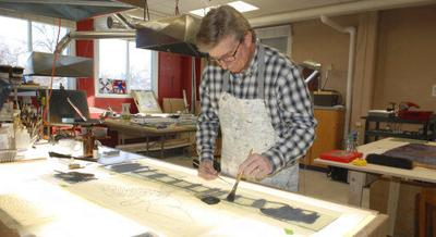 Artist creates Divine Mercy windows for Fremont church