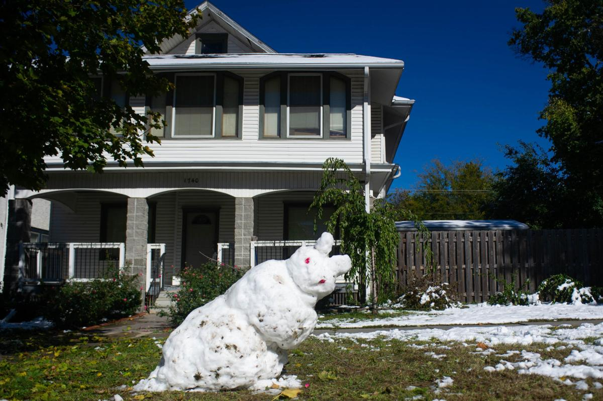 Snow storm cleanup, 10/15
