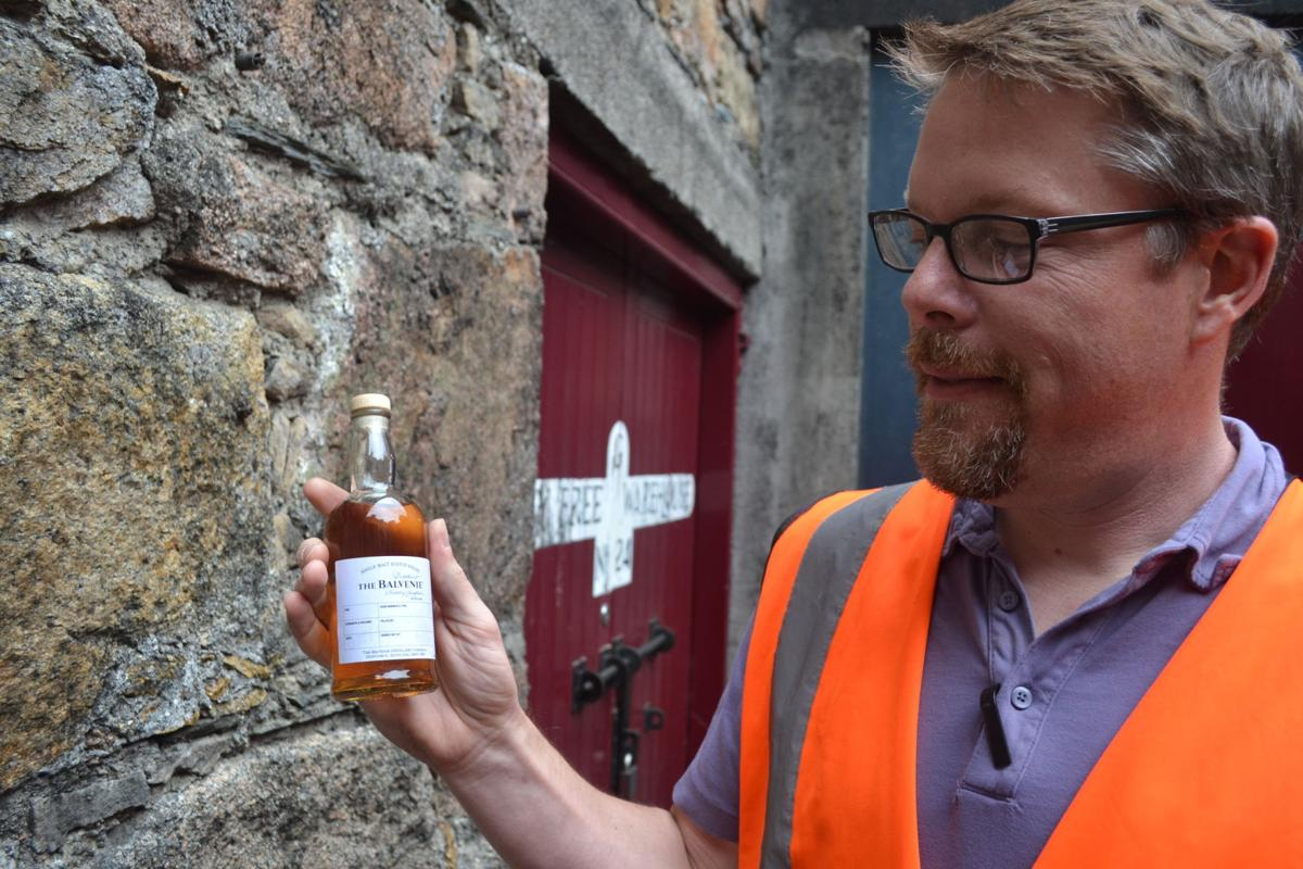 Mark Feit during a visit to Scotland