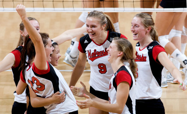 Husker volleyball team survives No. 23 Wisconsin in five ...
