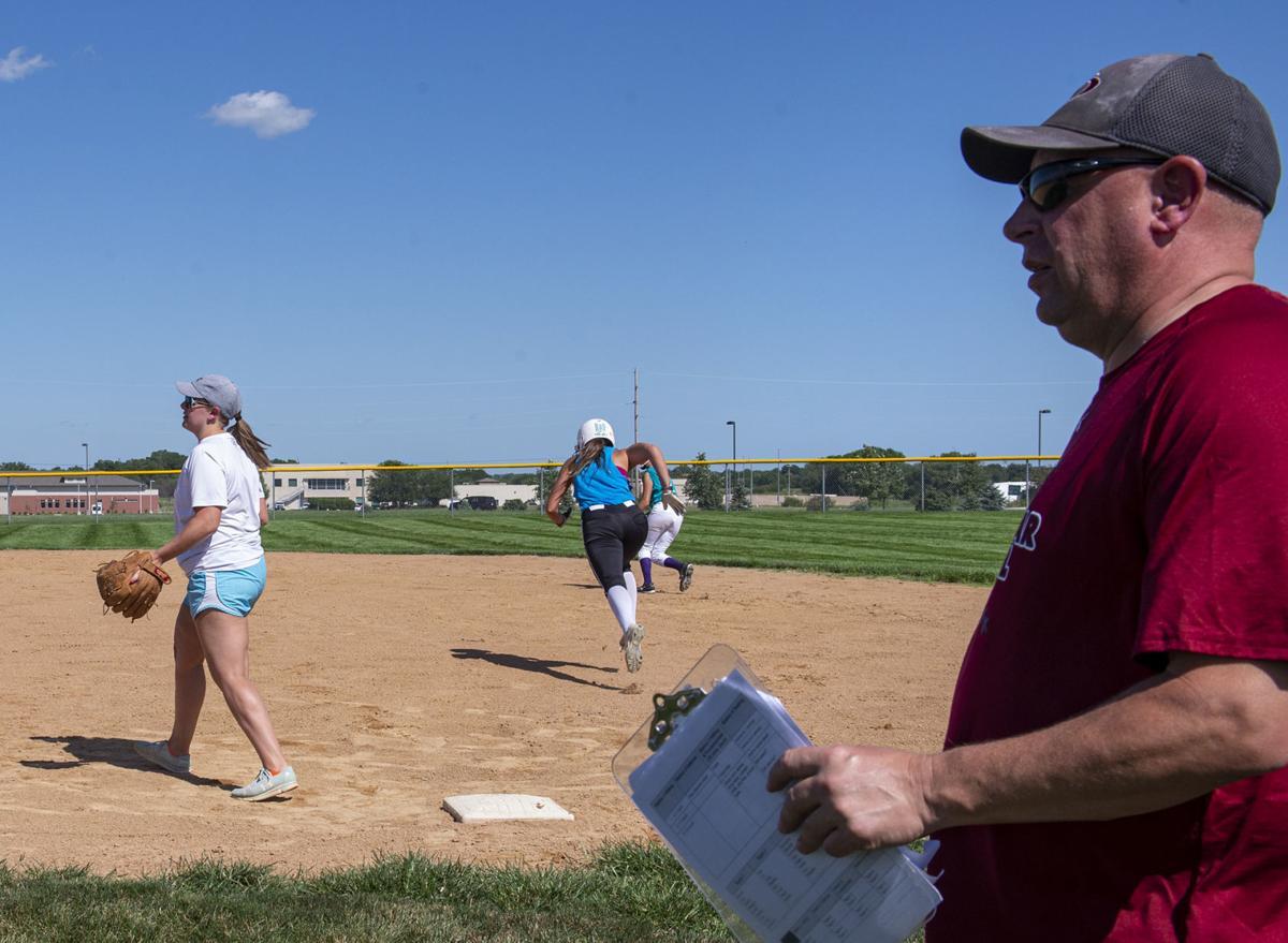 North Star softball practice, 8.13