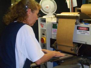 Employee Making Shoes