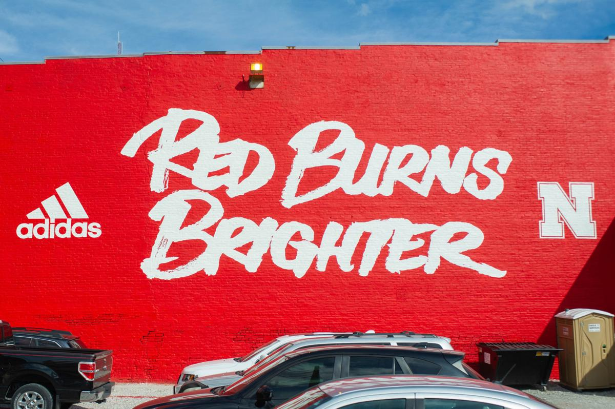 Red Burns Brighter mural