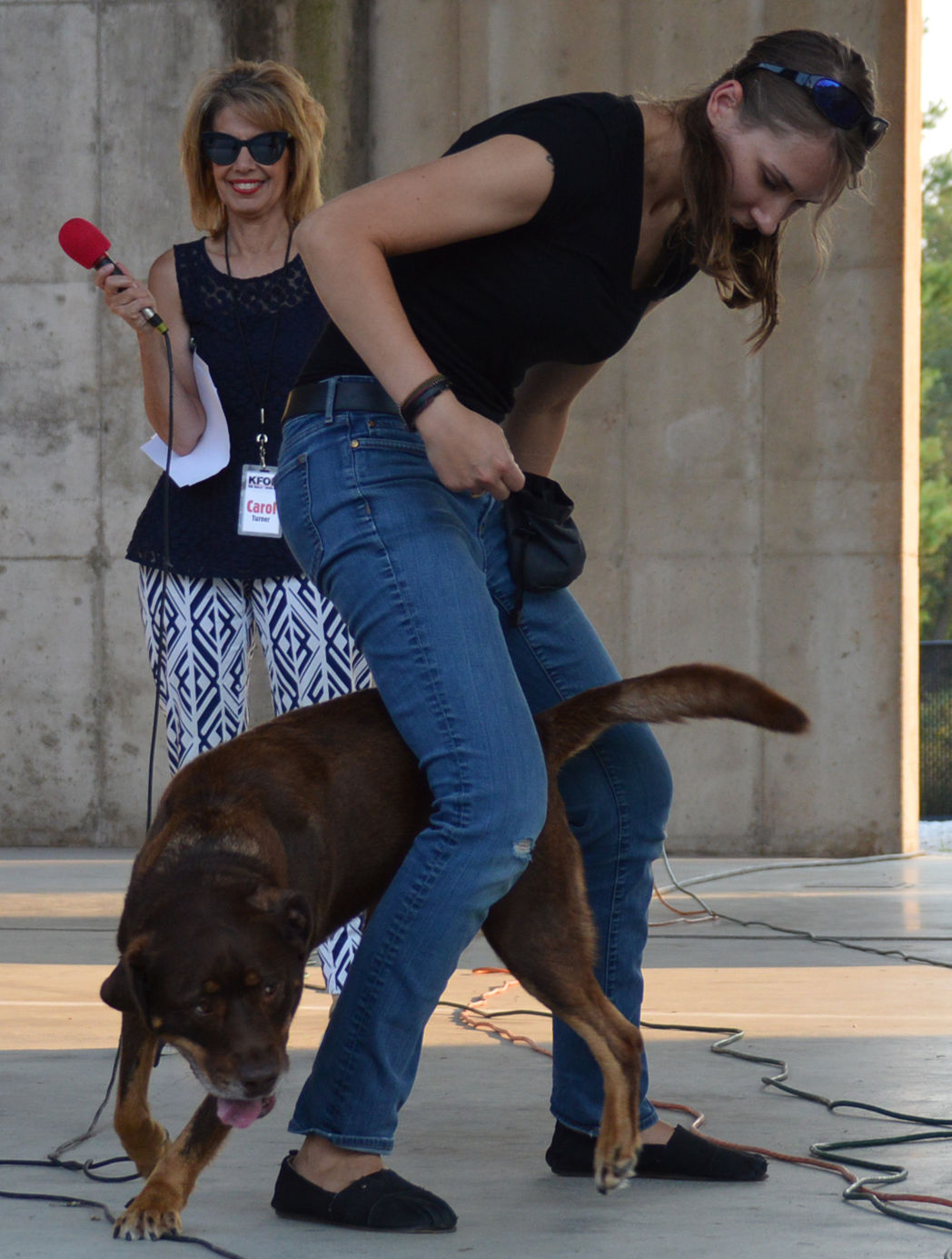 Dog trick winners: Liz Trainor and Bear Dog