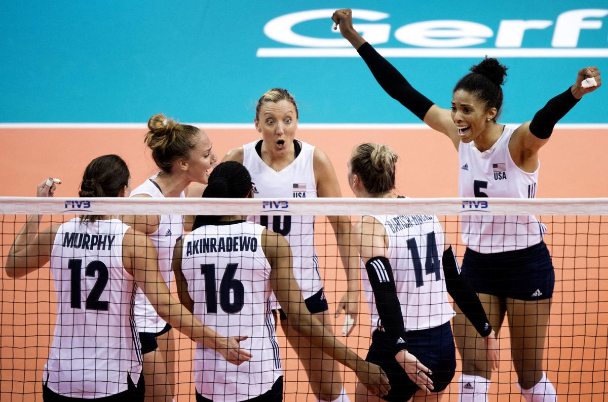 USA volleyball vs. Poland, 5/15/18