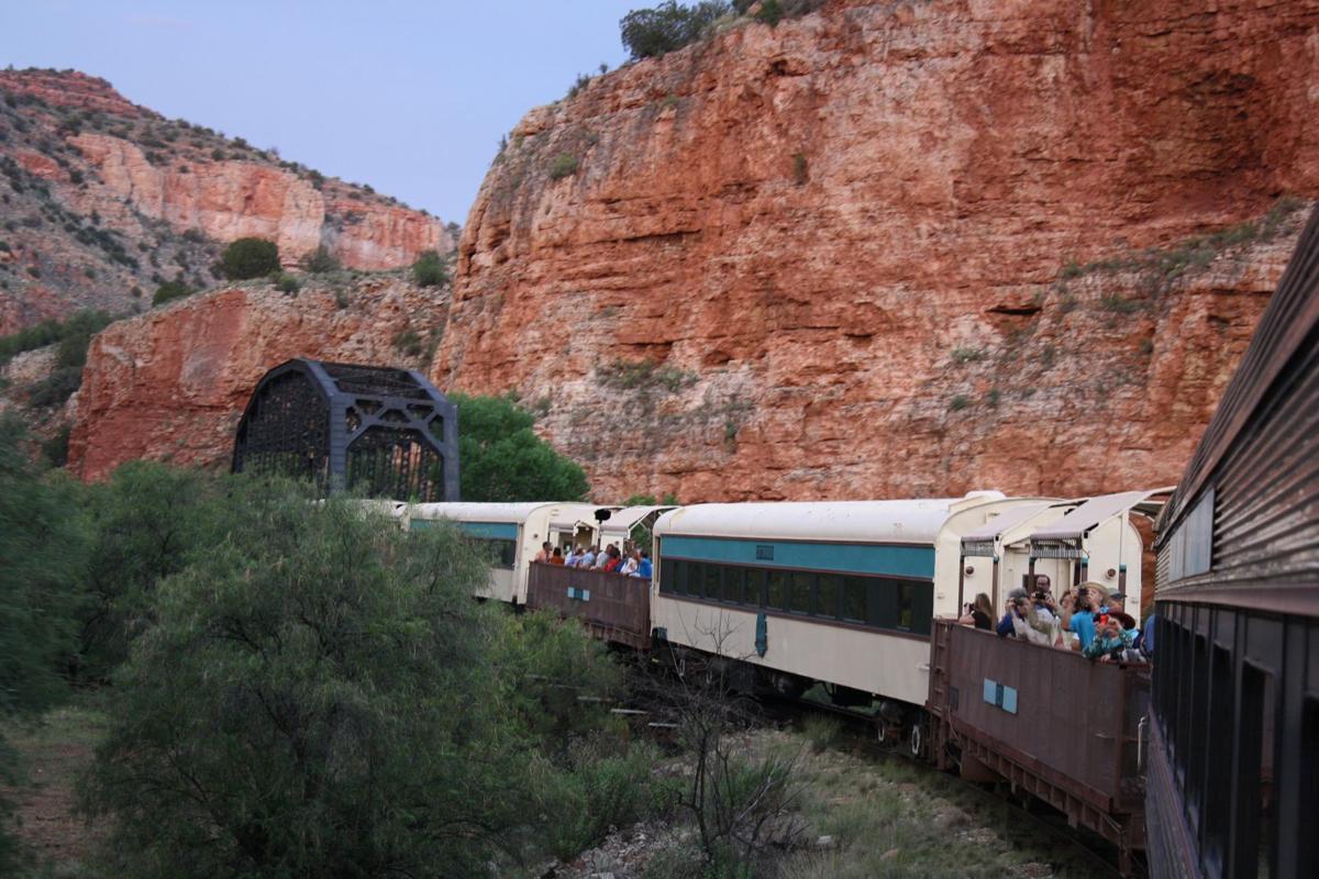 Verde Canyon Railroad winds through the high desert wilderness