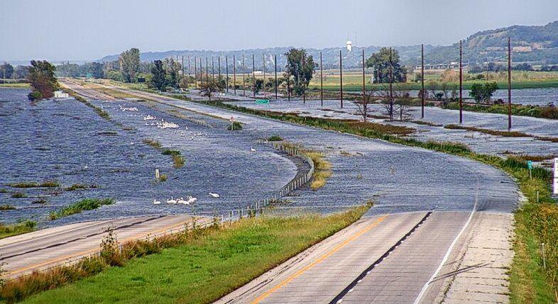 I-29, Missouri River flooding