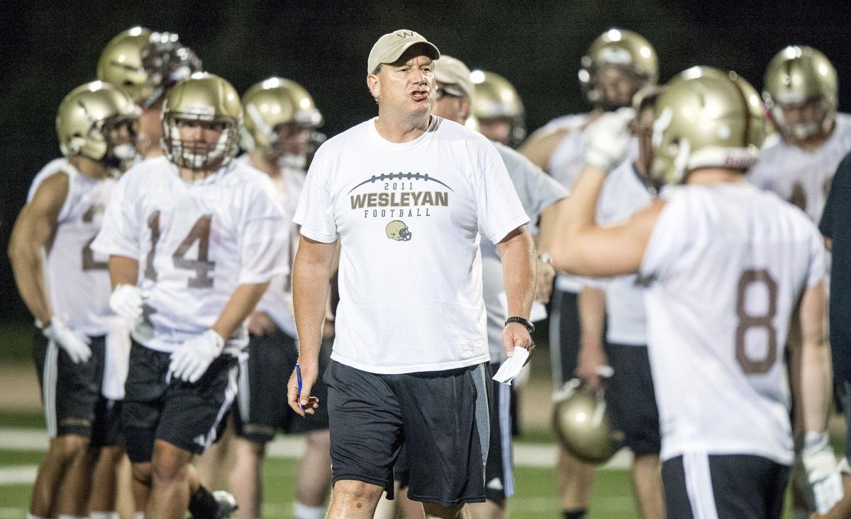 Nebraska Wesleyan football practice