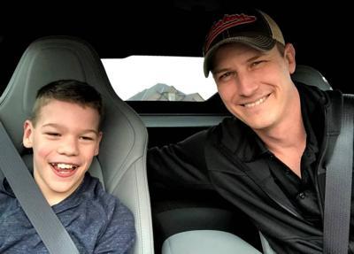 Kaden and James Bowen in Corvette