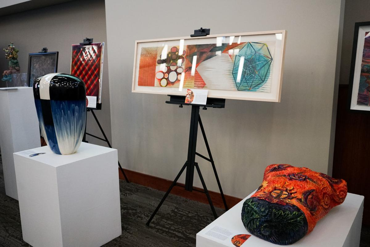 Auction featured art by local notable artists