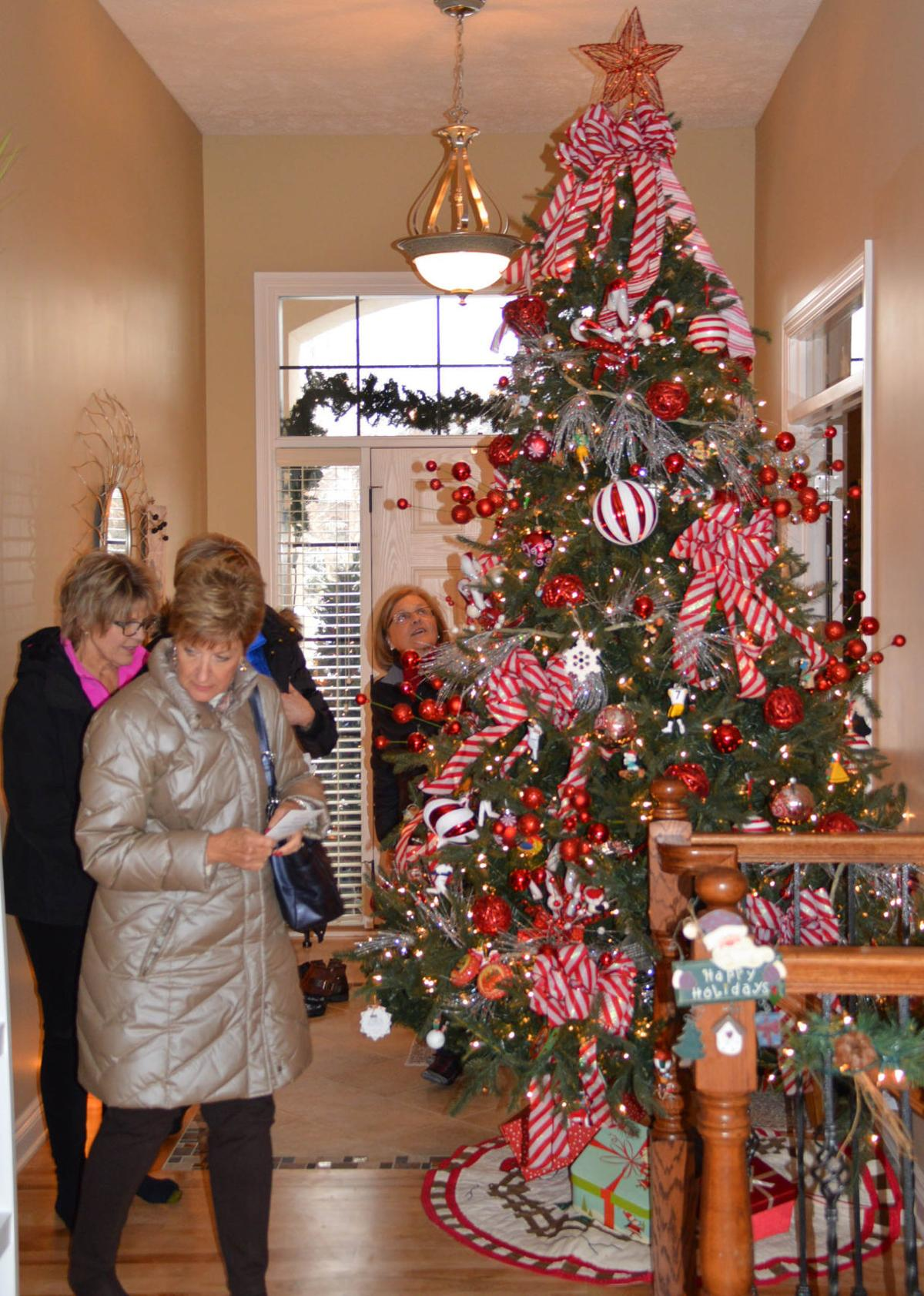 Guests admire tree at Fecht home