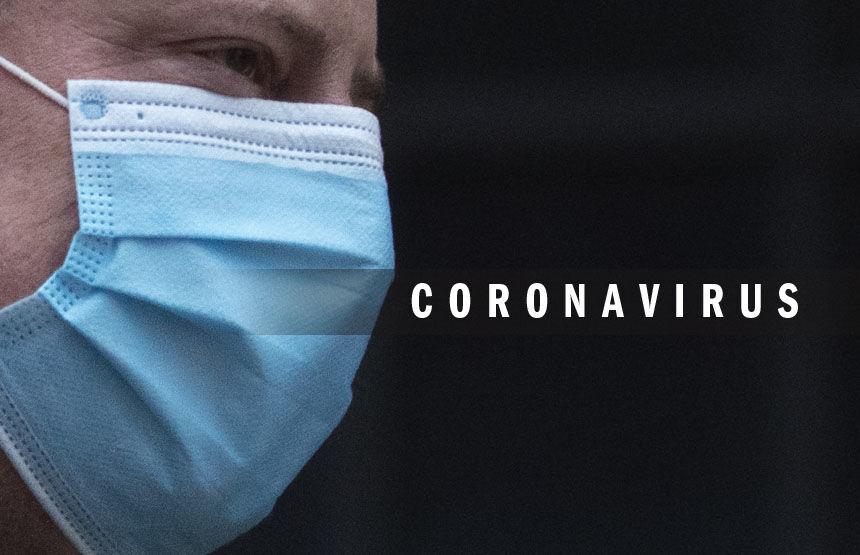 Coronavirus logo 2020 with mask