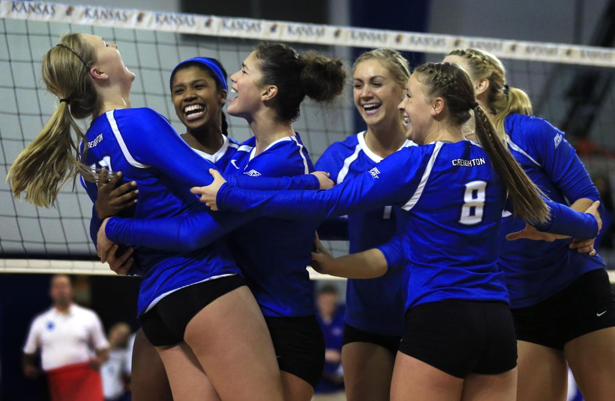 NCAA Creighton Kansas Volleyball