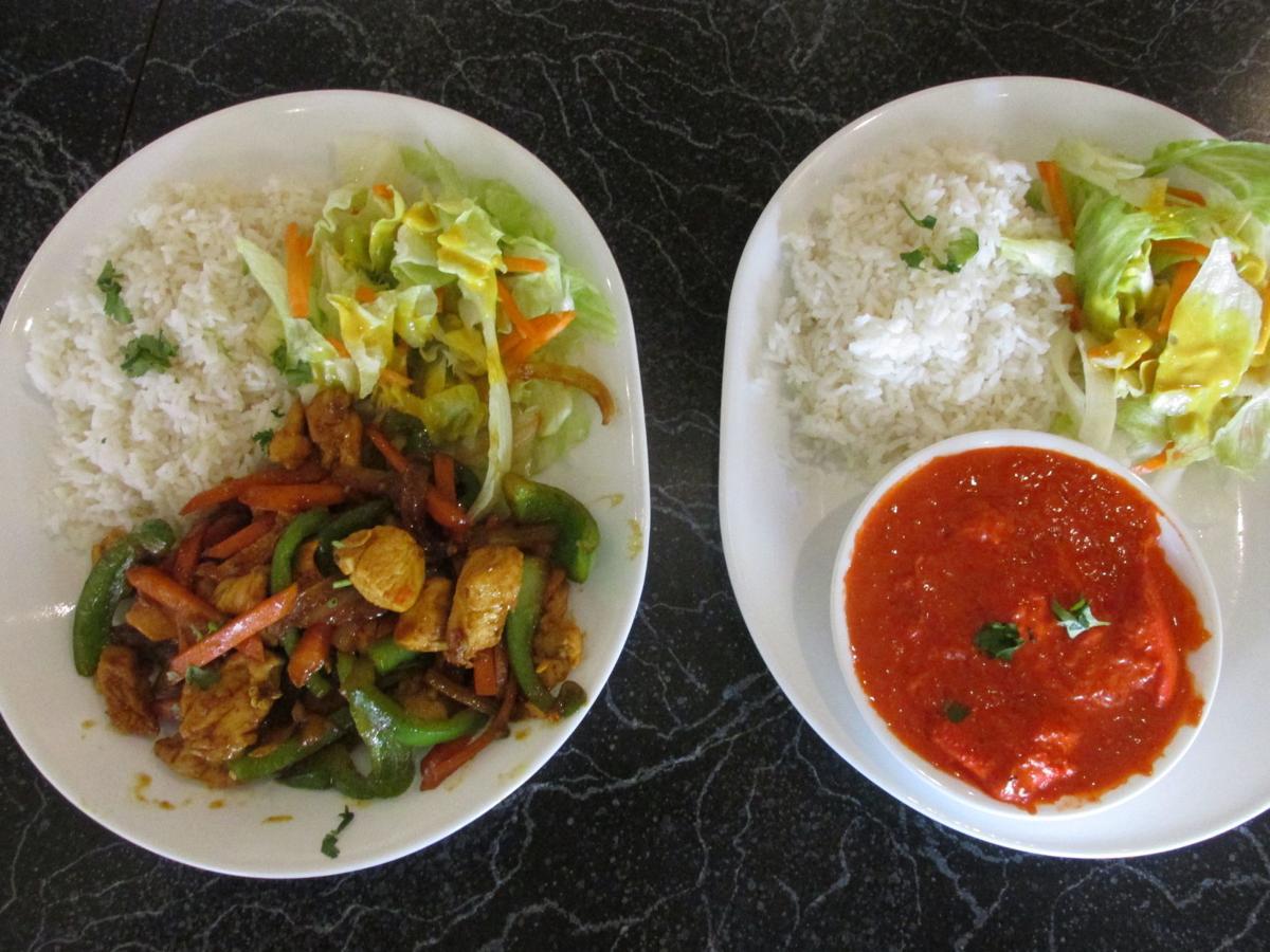 Tandoor's Bhutanese Chicken (left) and Chicken Tikka Korma (right)