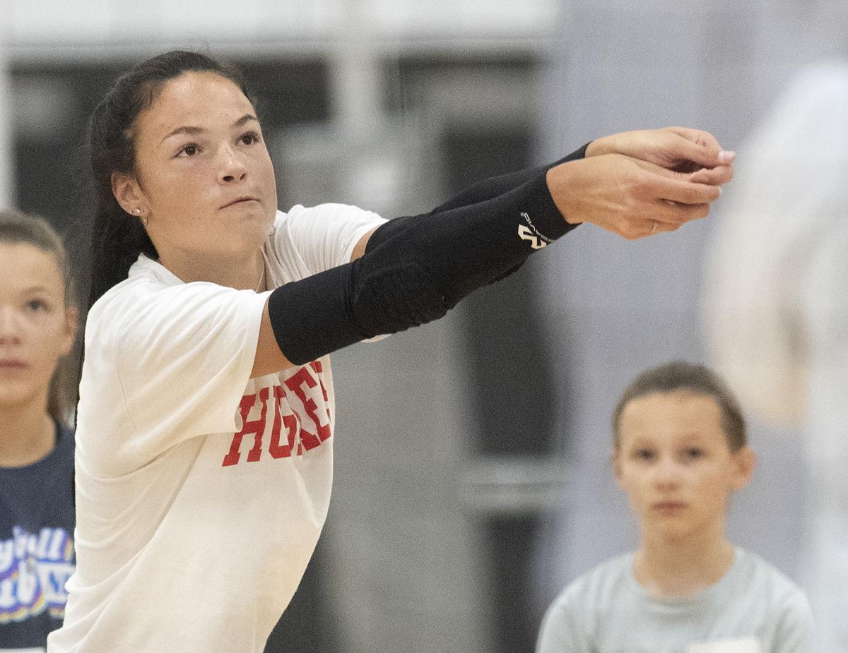 Jordan Larson volleyball camp, 7.22