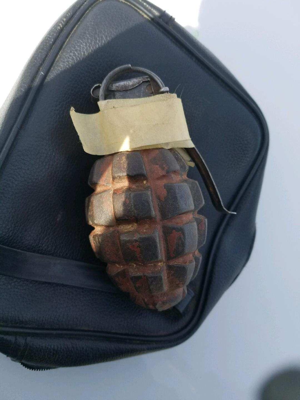Patrol Bomb Squad Disposes Of Live Grenade Railroad
