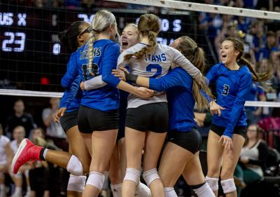 A state volleyball semifinal, 11.8