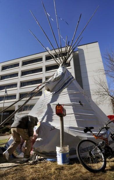 Occupy Lincoln tipi