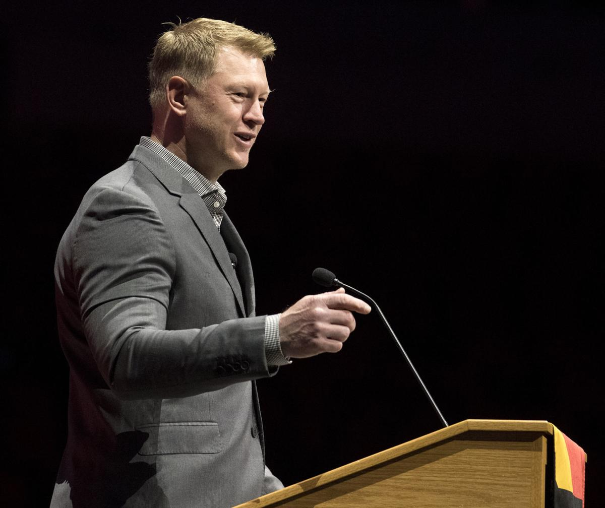Scott Frost at Lincoln Chamber of Commerce lunch