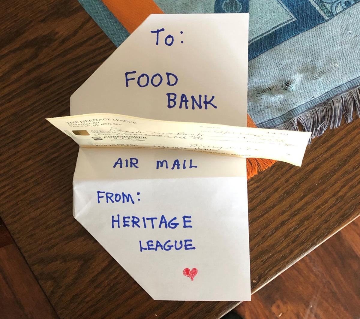 "Heritage League paper airplane ""airmail"""