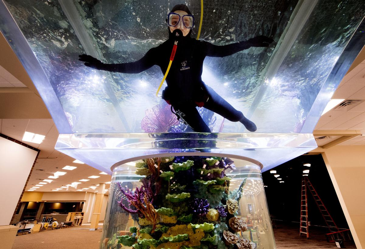 Scheels Shows Off Progress And Fills Fish Tank At New Lincoln