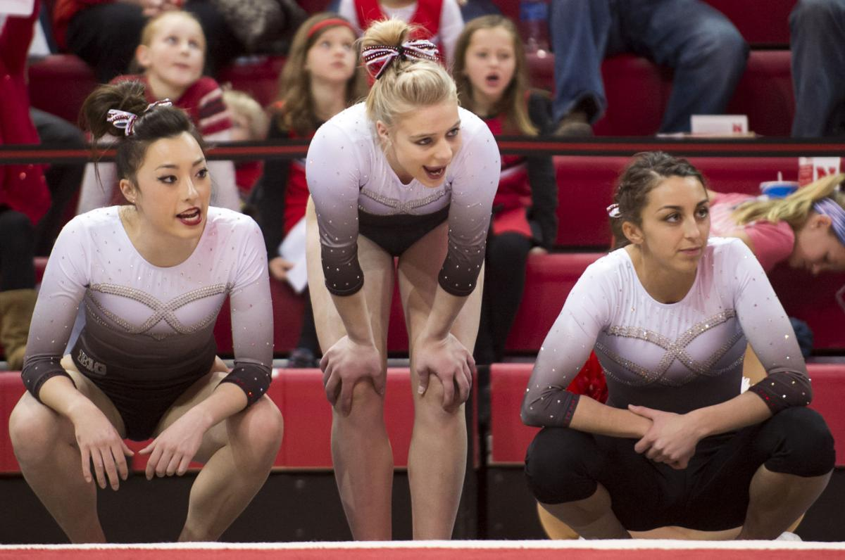 Husker women gymnasts turn attention to michigan for 1 2 3 4 all the ladies on the floor