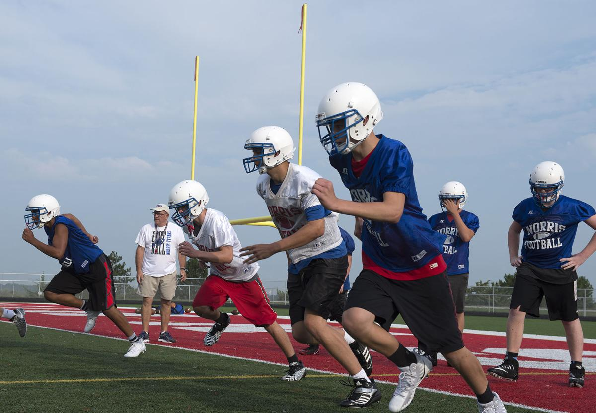 Norris football practice