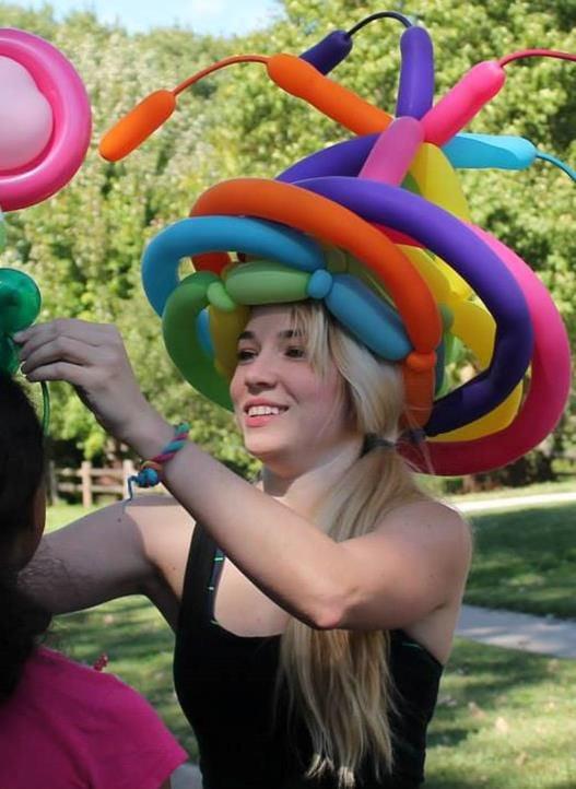 Balloon woman