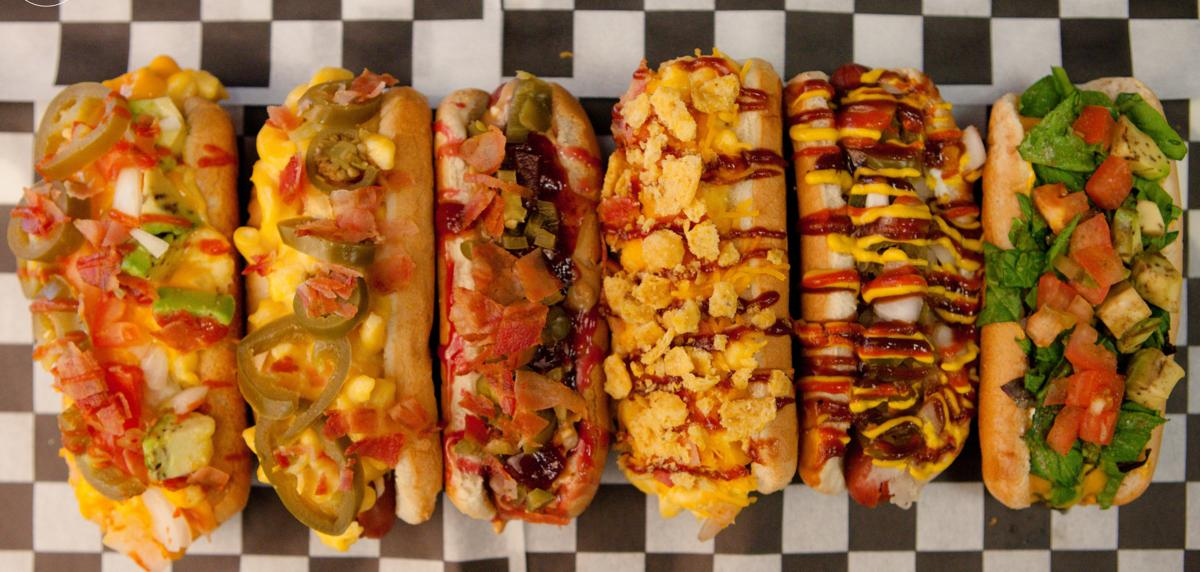 Some of FlyDogz' tasty hot dog choices