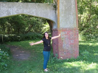 Maggie Stuckey at Epworth Park entrance