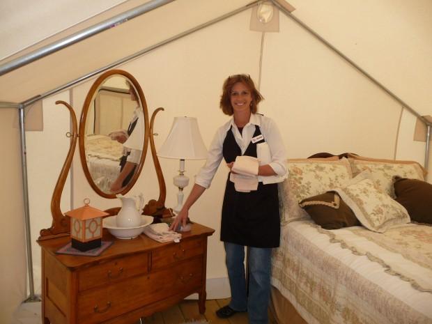 Duck Landing tent furnishings