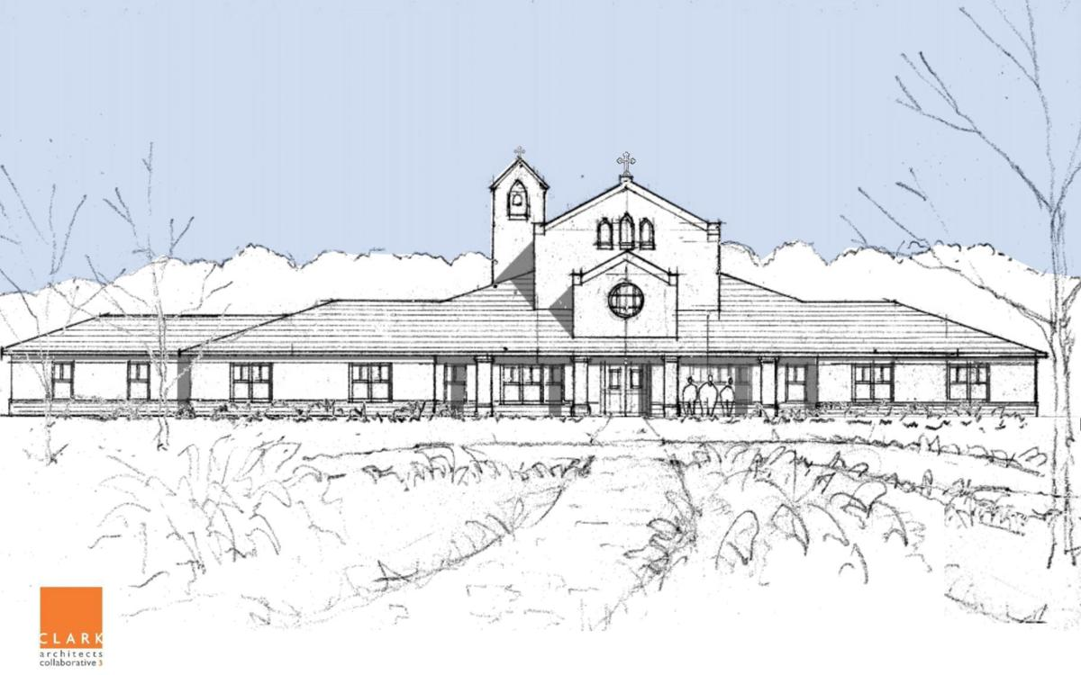Rendering of the new mother house