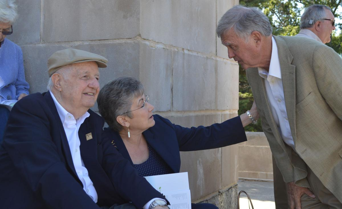 Don and Julie Pederson visit with Mayor Chris Beutler
