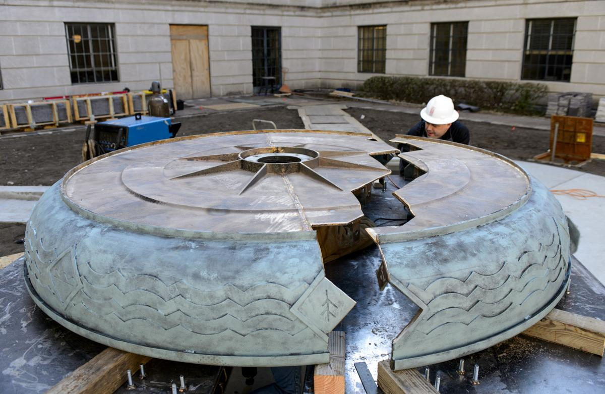 Capitol Fountain Installation