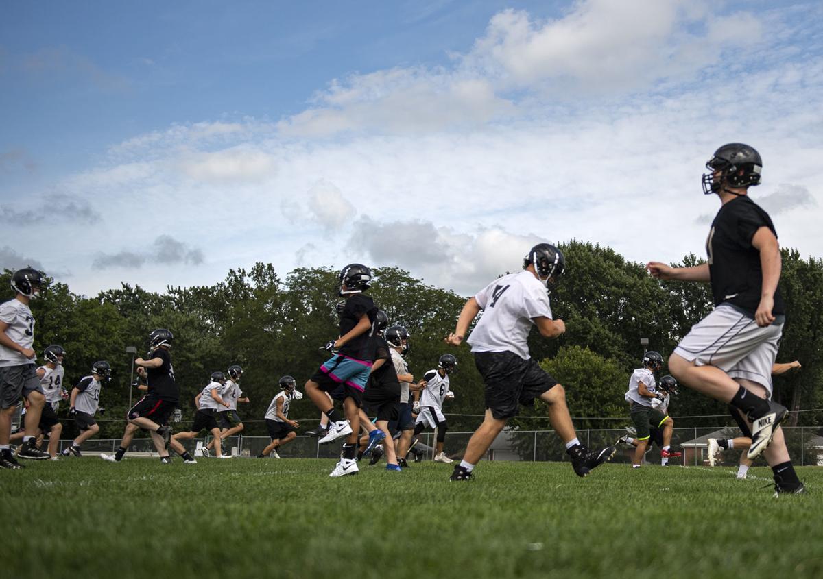 Northeast football practice, 8.12
