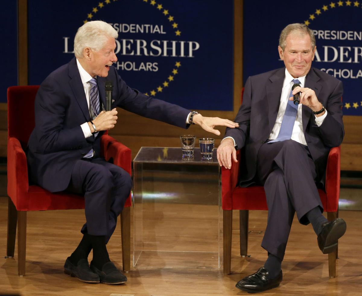 Clinton and Bush libraries: 'It's the economy, stupid', 9/11