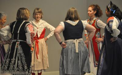 UNL Women's Club folk dancers