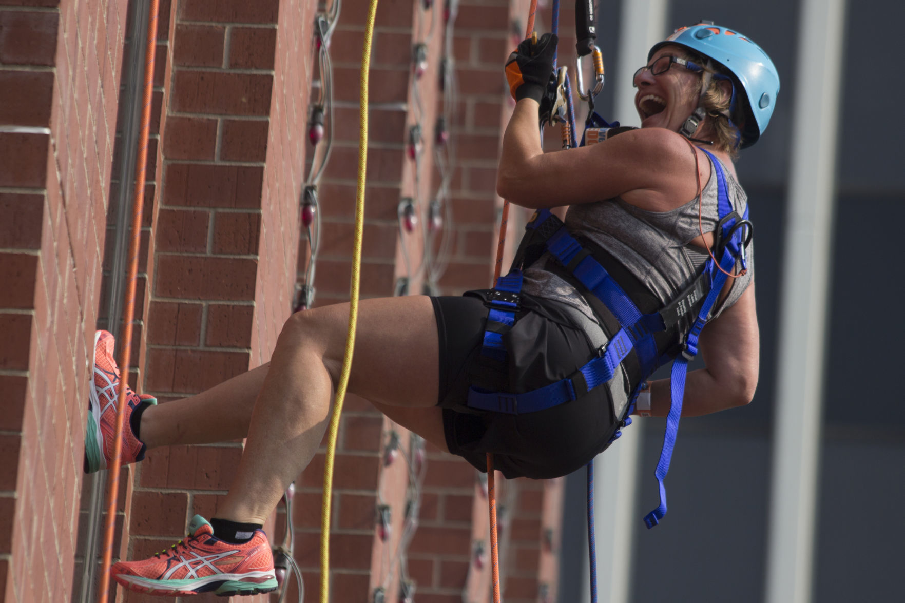 Fundraising event sends participants down the side of Cornhusker hotel | Journal Star
