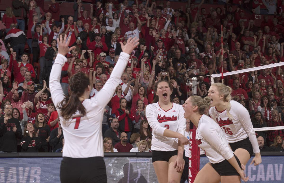 NCAA volleyball, Washington State vs. Nebraska, 12/2/17