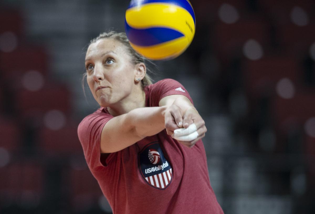 U.S. Women's National Volleyball Team Practice, 6.1