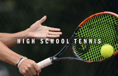 High school tennis logo