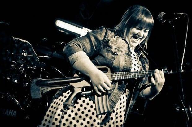 Rebecca Lowry machine gun ukulele