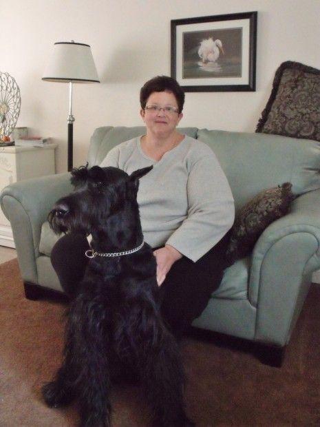 Michelle Ashley & dog Brutus