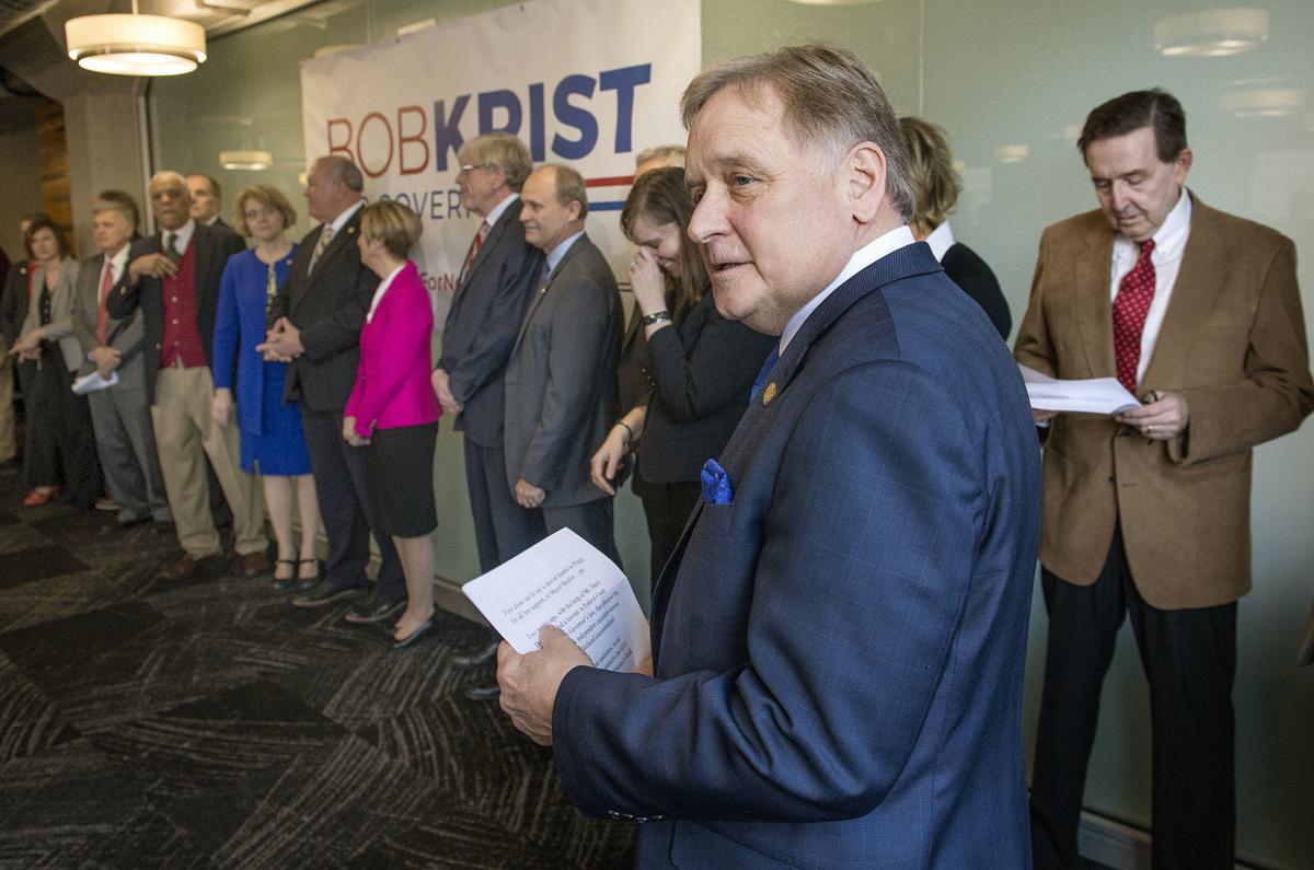 Bob Krist campaign announcement Democrat