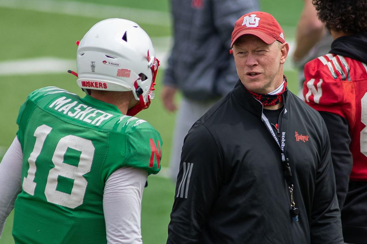 Nebraska football practice, 4.17