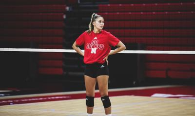 Nebraska volleyball practice, 8.5