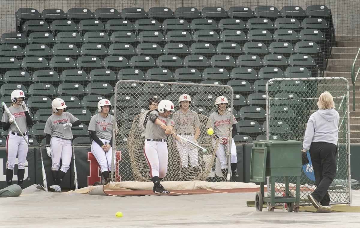 Nebraska softball practice