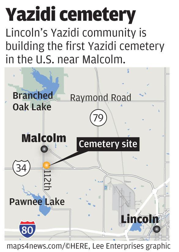 Yazidi cemetery map