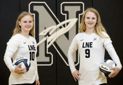 Lincoln Northeast volleyball twins